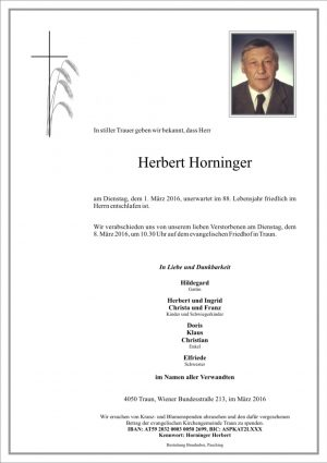 Portrait von Herbert Horninger