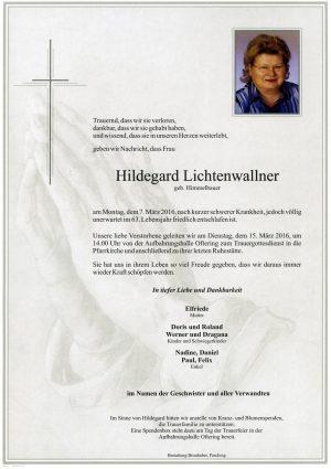 Portrait von Hildegard Lichtenwallner
