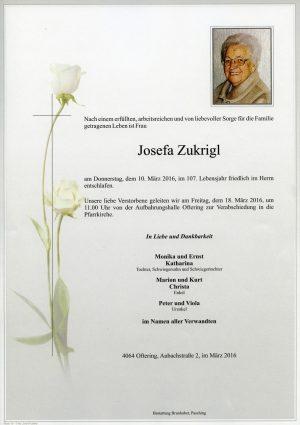 Portrait von Josefa Zukrigl