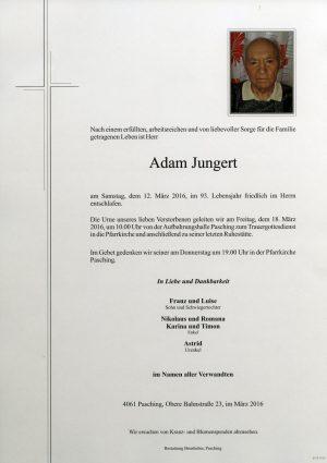Portrait von Adam Jungert