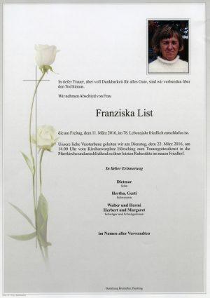 Portrait von Franziska List