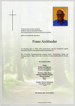 Portrait von Franz Aichlseder