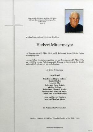 Portrait von Herbert Mittermayer