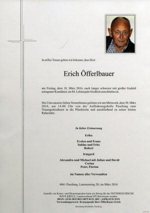 Portrait von Erich Öfferlbauer