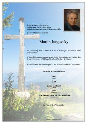 Portrait von Martin Jurgovsky