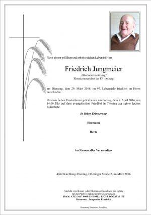 Portrait von Friedrich Jungmeier