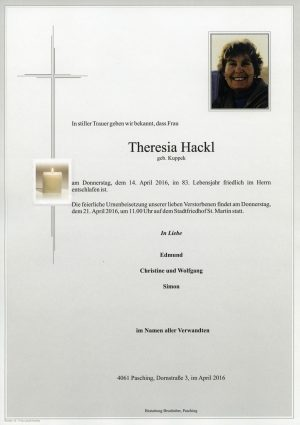 Portrait von Theresia Hackl