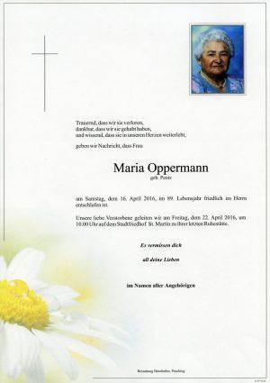 Portrait von Maria Oppermann