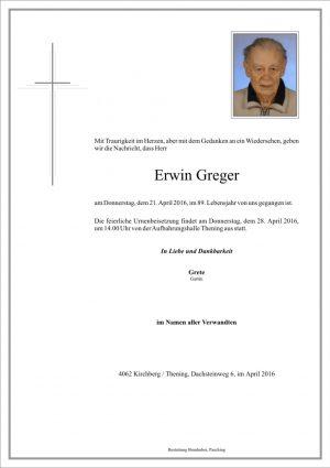 Portrait von Erwin Greger