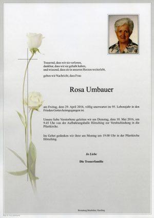 Portrait von Rosa Umbauer