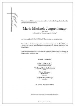 Portrait von Maria Michaela Jungreithmayr