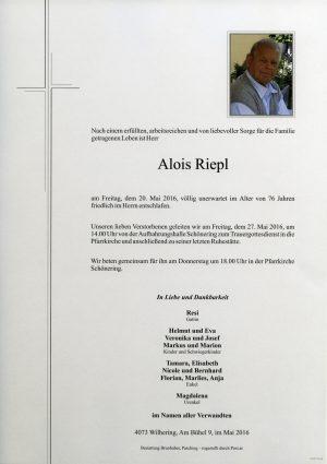 Portrait von Alois Riepl