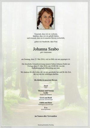 Portrait von Johanna Szabo