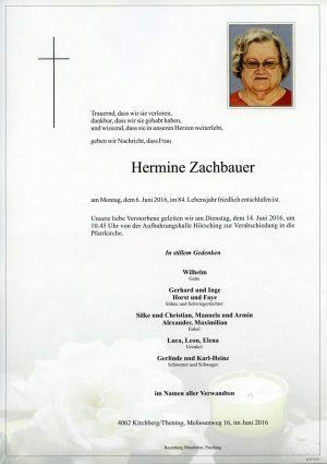 Portrait von Hermine Zachbauer