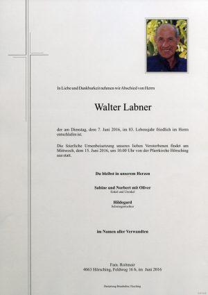 Portrait von Walter Labner
