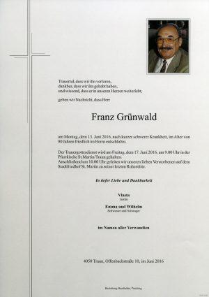 Portrait von Franz Grünwald