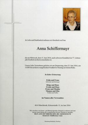 Portrait von Anna Schiffermayr
