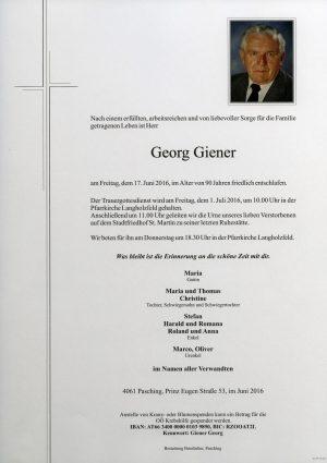 Portrait von Georg Giener