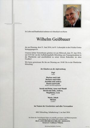 Portrait von Wilhelm Geißbauer