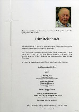 Portrait von Fritz Reichhardt