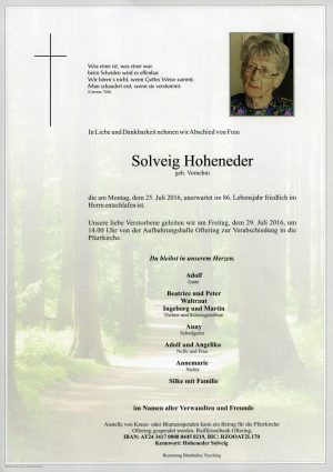 Portrait von Solveig Hoheneder