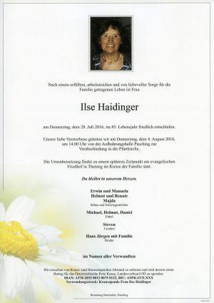 Portrait von Ilse Haidinger