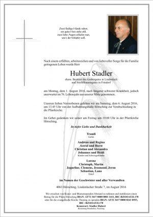 Portrait von Hubert Stadler