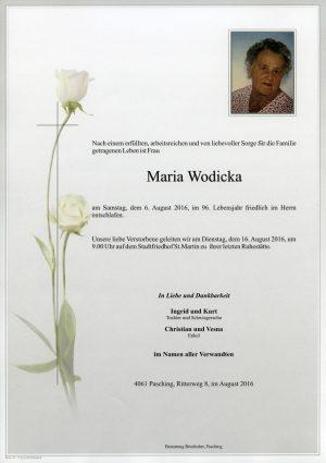 Portrait von Maria Wodicka
