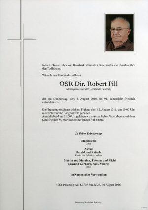 Portrait von OSR Dir. Robert Pill