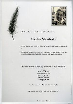 Portrait von Cäcilia Mayrhofer