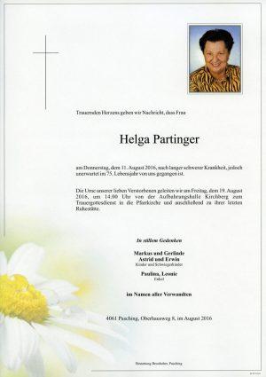 Portrait von Helga Partinger