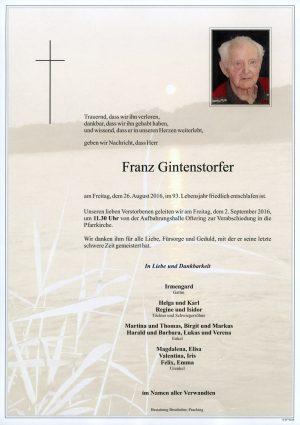 Portrait von Franz Gintenstorfer