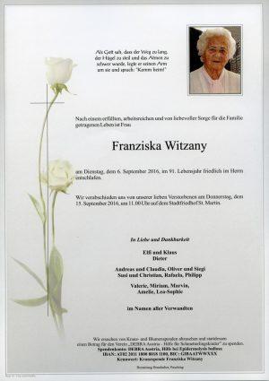 Portrait von Franziska Witzany