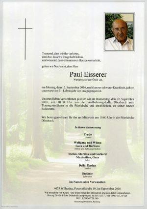Portrait von Paul Eisserer