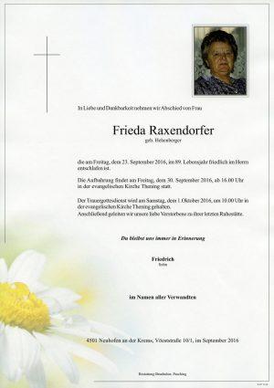 Portrait von Frieda Raxendorfer
