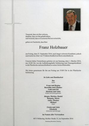 Portrait von Franz Holzbauer