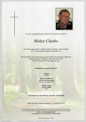 Portrait von Walter Charko
