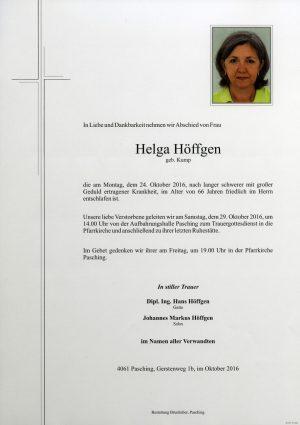 Portrait von Helga Höffgen