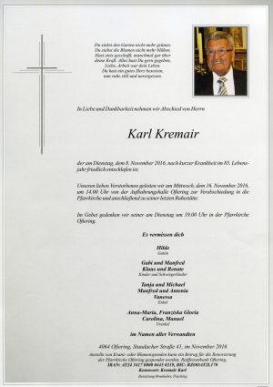 Portrait von Karl Krenmair