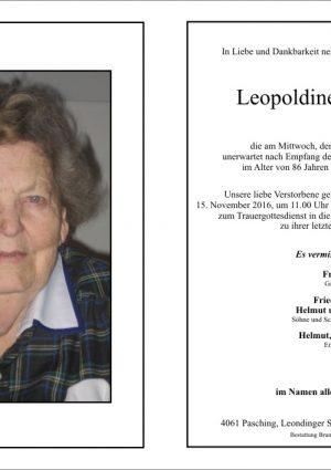 Portrait von Leopoldine Hofbauer