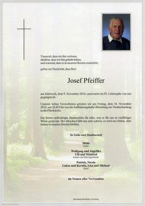 Portrait von Josef Pfeiffer