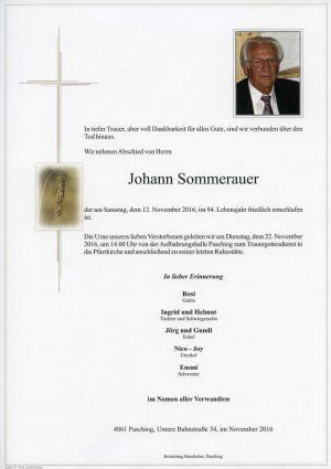 Portrait von Johann Sommerauer