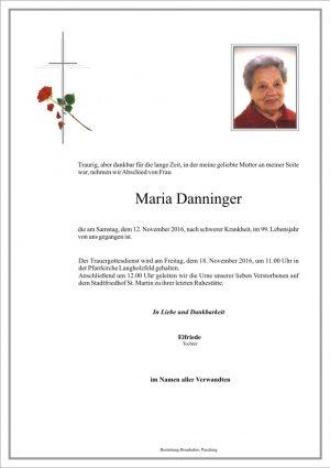 Portrait von Maria Danninger