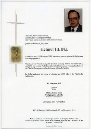 Portrait von Helmut HEINZ