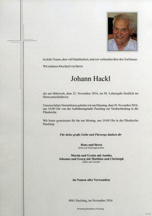Portrait von Johann Hackl