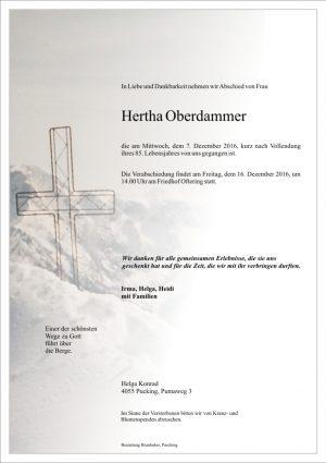 Portrait von Hertha Oberdammer