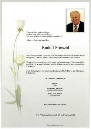 Portrait von Rudolf Prieschl