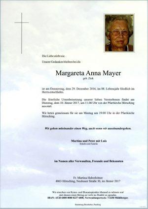 Portrait von Margarete Anna Mayer