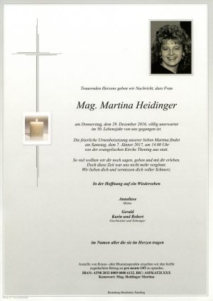 Portrait von Mag Martina Heidinger