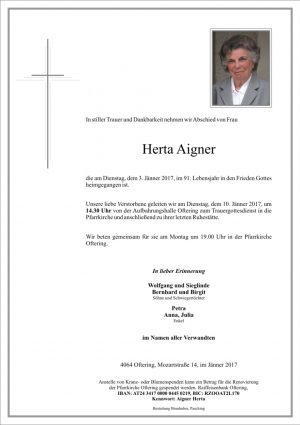 Portrait von Herta Aigner